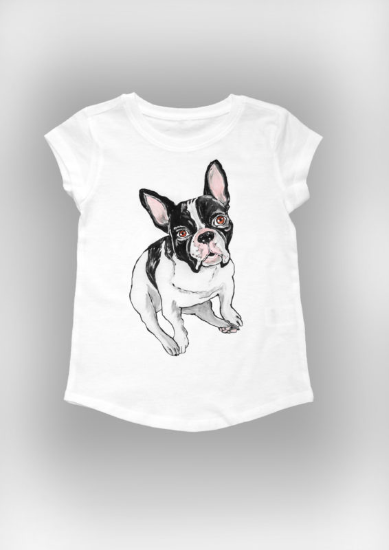 French Bulldog T- shirt-0