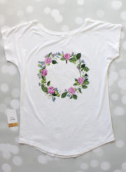 T-shirt with flowers on it