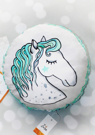 Mint Horse Cushion